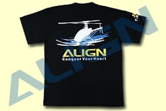 Picture of BG61558-6 Black 2X Extra Large Flying T-shirt