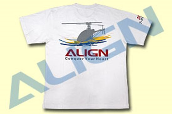 Picture of BG61557-6 White 2X Extra Large Flying T-shirt