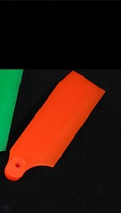 Picture of KBDD 4067 40mm Neon Orange Plastic Tail Blades T-Rex 250 Size