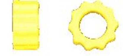 Picture of KBDD 4103 Yellow Hard Dampeners For 600 Size Helis