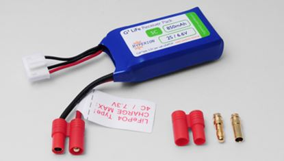 Picture of Hyperion HP-FG305-0850-2S Receiver Battery LiFePO4 6.6V 850mAh