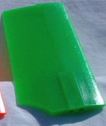 Picture of KBDD 4218 Plastic Neon Green Paddles for 500 size heli 3mm