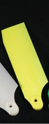 Picture of KBDD 4004 84.5mm Neon Yellow Plastic Tail Blades T-Rex 550 Size