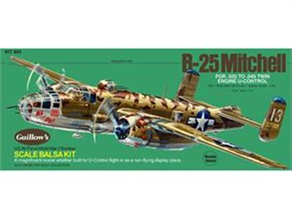 Picture of Guillows 805 Balsa WWII B25 Mitchell Bomber (Dual-Purpose model)