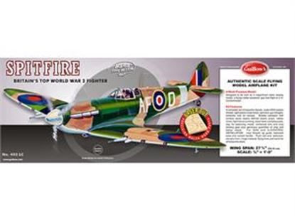"Picture of Guillow's GUI 403LC Supermarine Spitfire Kit 24 5/8"" Wingspan 1:"