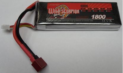 Picture of Wild Scorpion 2S 7.4v 1800mAh 30C XT-60 Plug