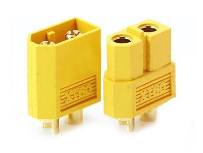 Picture of Nylon XT60 Connectors Male/Female x1 Pair