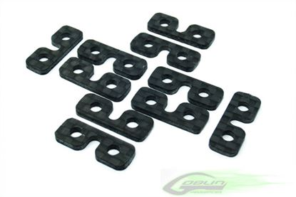 Picture of SAB H0075-S Carbon Fiber SERVO SPACER (10pcs) - Goblin 700