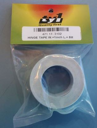 """Picture of TY1 17-3102 1"""" (25mm) x 5m Hinge Tape"""