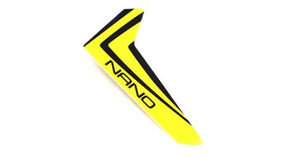 Picture of E-Flite BLH3320 Yellow Vertical Fin with decal: NCP X