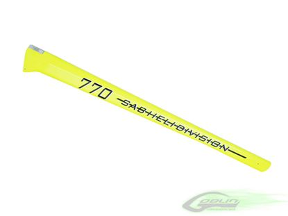 Picture of Sab H0147-S Carbon Fiber Tail Boom Yellow - Goblin 770