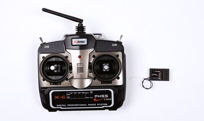Picture of FMS 2.4GHz FHSS X-6 Transmitter and XY7000 Receiver