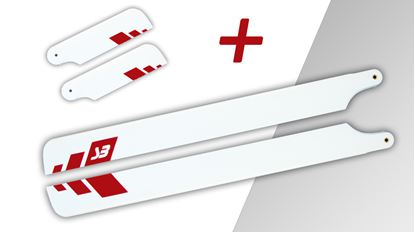 Picture of Spinblades 123202685 685mm Symmetrical Red Tip + Free tail blade