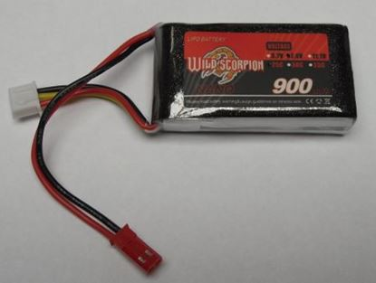 Picture of Wild Scorpion 2S 7.4v 1100mAh 25C 13x34x69 JST Plug