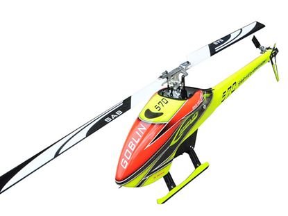 Picture of SAB Goblin SG570 570 YELLOW/ORANGE (with blade and tail blade)