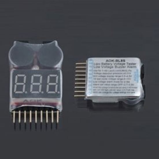Picture of BW4701 AOK 1-8S Lipo Battery Tester/ Low Voltage Buzzer Alarm