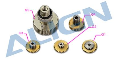 Picture of HSP61503 DS615S Servo Gear Set
