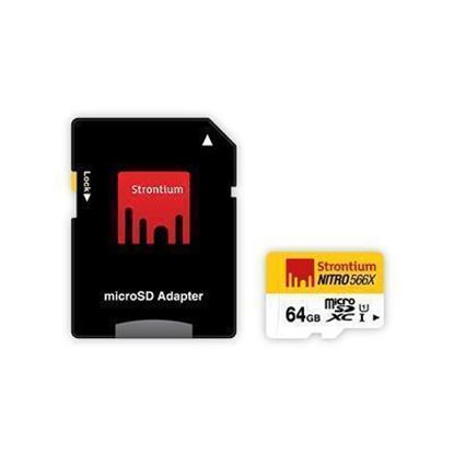 Picture of STRONTIUM SRN64GTFU1 Nitro Series 64 GB Ultra High Speed MicroSD
