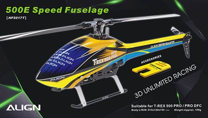 Picture of HF5017 500E Speed Fuselage – Yellow & Blue