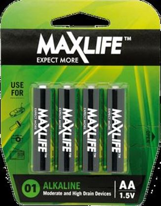 Picture of MaxLife BATAA-A4 Alkaline AA Batteries  - 4 Pack