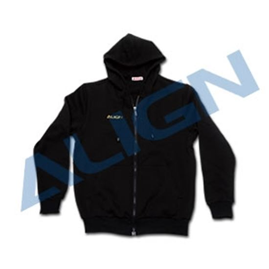 Picture of HOC00209-4 Zippered Hoodie(DFC)-Black (L)