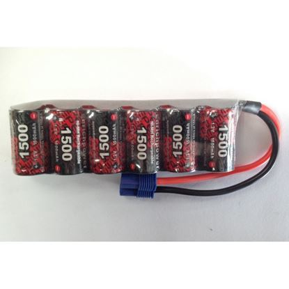 Picture of Enrichpower EP-1500-6B -MICRO 7.2V 1500mAh NiMh Stick pack w/EC3