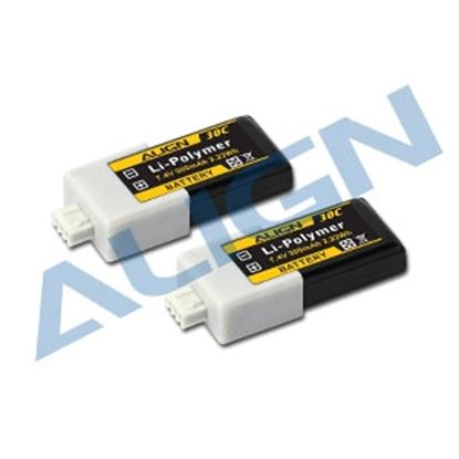 Picture of HBP03001 2S1P 7.4V 300mAh/30C LiPo Battery