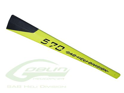 Picture of SAB H0300-S - Carbon Fiber Tail Boom Yellow - Goblin 570