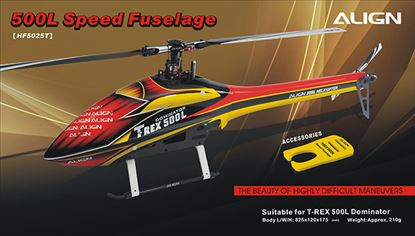 Picture of HF5025 500L Speed Fuselage – Red & Yellow