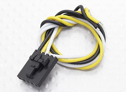 Picture of Molex 258000079 3 Pin Cable Male Connector with 230mm x 26 AWG W