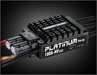 Picture of Hobbywing 30203600 Platinum Pro 100A-HV-OPTO-V3 Aircraft ESC