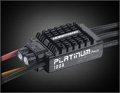 Picture of Hobbywing 30203900 Platinum Pro-100A-V3 Aircraft ESC