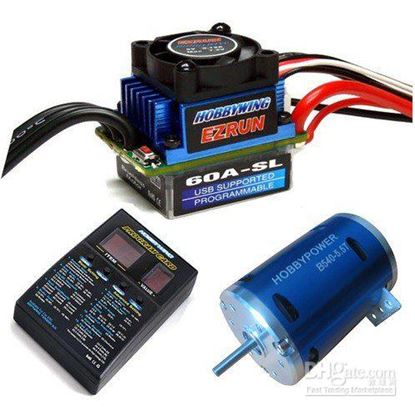 Picture of Hobbywing 81030050 EZRUN Combo-B4 60A ESC and 5.5T@6000KV