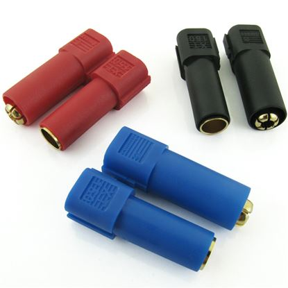 Picture of XT150 Connectors w/ 6mm Gold Connectors - Red, Blue & Black