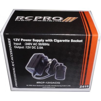 Picture of RCPRO RCP-12V2ACIG Mains to Female Cigarette Power Supply