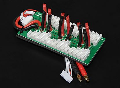 Picture of Parallel charging Board for 6 packs 2-6S Bare leads 28274