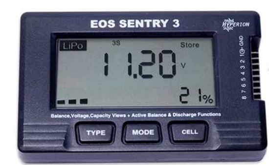 Picture of Hyperion Sentry3 2-8S Battery Checker,Balancer, with Store Mode