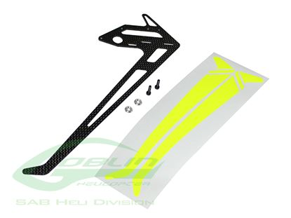 Picture of SAB H0684-S - Carbon Fiber Vertical Fin - Goblin Black Nitro/Thu