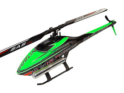 Picture of SAB Goblin SG711 Black Nitro Kit 700 Green  only