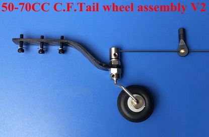 Picture of KUZA KAG0108 C.F.Tail wheel assembly V2 50-70CC V2