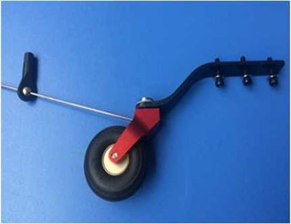 Picture of KUZA KAGC108 CNC Alloy & C.F.Tail Wheel Assembly V2 50-70CC