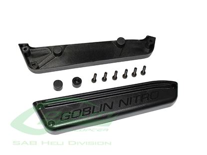 Picture of Sab H0686-S Plastic Tank Support - Goblin Black Nitro
