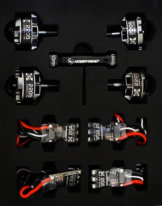 Picture of Hobbywing 38040002 FPV PWR System-C  XR-35A Micro ESC/ 2205-1800