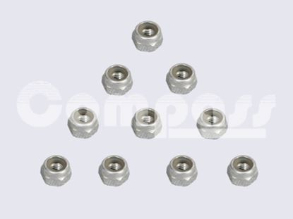 Picture of KUZA KAG02603 Stainless Steel Nylon/Nyloc Nut M3