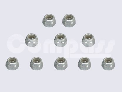 Picture of KUZA KAG02604 Stainless Steel Nylon/Nyloc nut M4