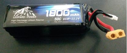 Picture of Leopard Power 6s 22.2v 1800mah 50c Lipo Battery XT60