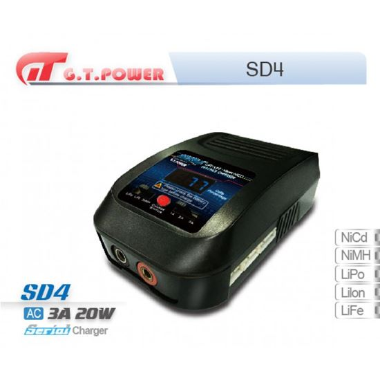 Picture of SD4 AC240V Charger output 1A/2A/3A. Lipo/LiFe 2-4S, NiMH/NiCd 4-