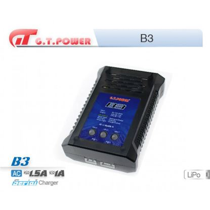 Picture of GT Power B3 AC240V/1.0-1.5A, 2S/3S Lipo balance charger, 3 LEDS.