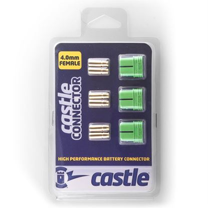 Picture of Castle 011-0076-00 Polarized Connectors - 4.0mm Female Multi-Pac