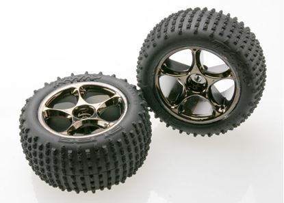 "Picture of Traxxas 2470A - Tires & wheels, (Tracer 2.2"" chrome)"